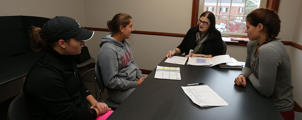 Student-Athletes being tutored