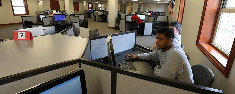 Student-Athletes in computer lab