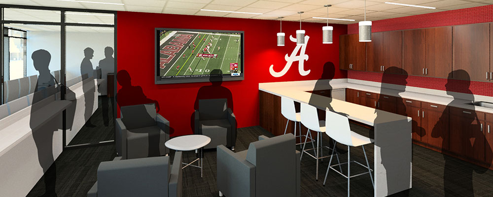 Rendering of the East Side Skyboxes