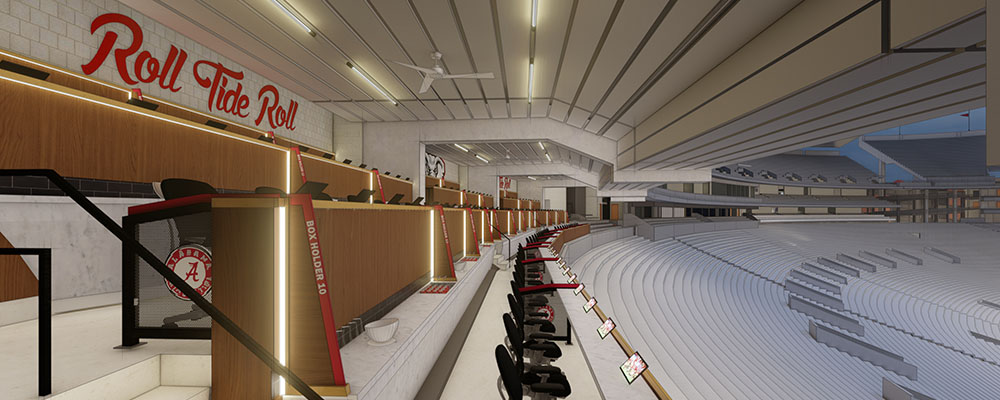 Rendering of the Loge Boxes