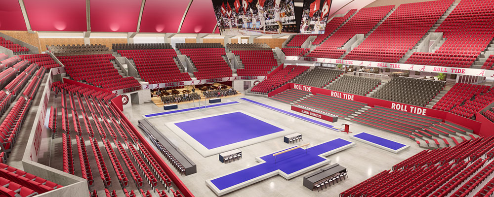 Rendering of gymnastics setup
